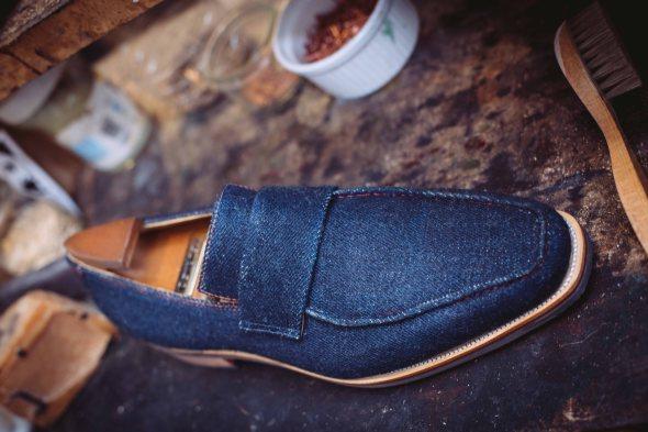 The full denim slip-on loafer from Corthay.