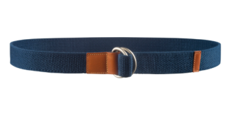 APC Positano elasticated canvas D-ring belt with leather accents €80